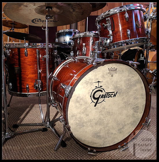 1980's GRETSCH CUSTOM POWER JAZZETTE BOP DRUM KIT QUITE FRANKLY DRUMS