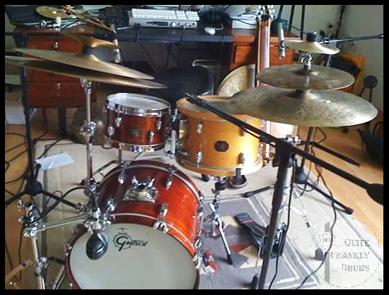 1980's GRETSCH CUSTOM POWER JAZZETTE BOP DRUM KIT QUITE FRANKLY DRUMS RIC BYER 05RIC